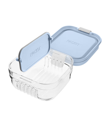 packit mod snack bento container™ - icy blue