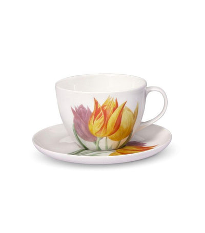 Pfaltzgraff Royal Botanic Garden Tulip Cup and Saucer Set