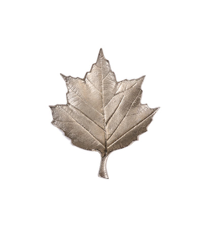 Arty Imports Metallic Maple Leaf Platter - Nickel