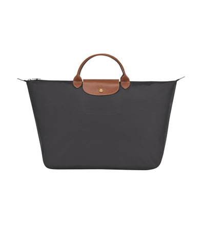 Longchamp Le Pliage Travel Bag L Gunmetal
