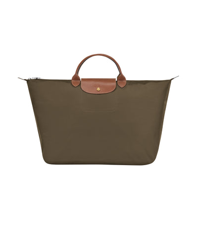 Longchamp Le Pliage Travel Bag L Khaki