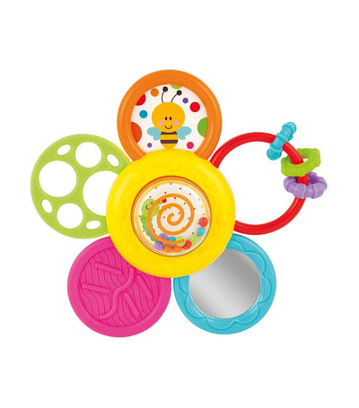 winfun daisy spin rattle 'n teether