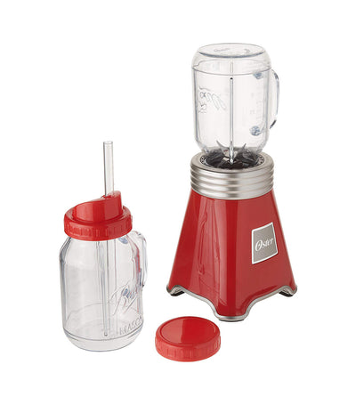 Oster Ball Mason Jar Blender in Red