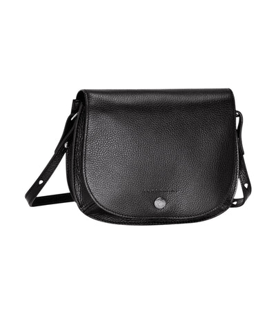 Longchamp Le Foulonné Saddle Crossbody Bag Black
