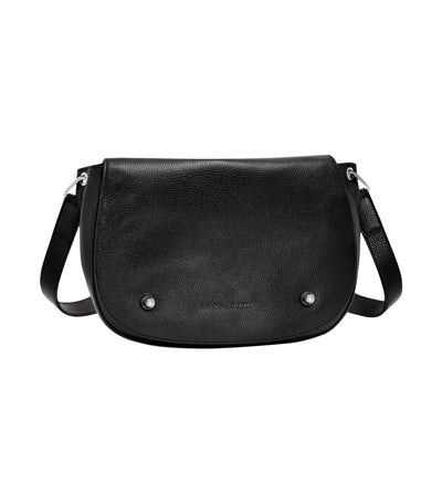Longchamp Le Foulonné Hobo Crossbody Bag Black