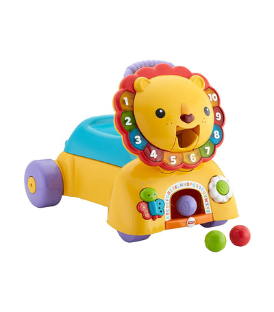 fisher-price sit, stride and ride lion