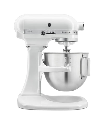 KitchenAid 5QT Heavy Duty Stand Mixer with Extra Bowl - White