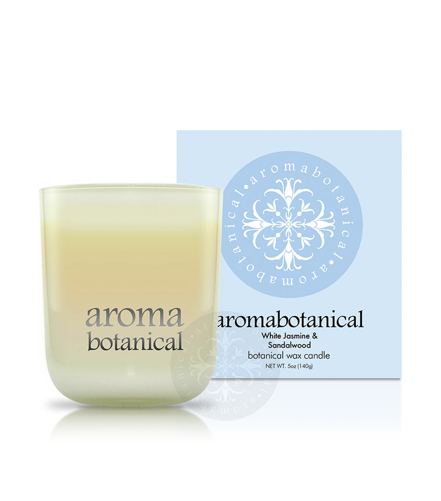 aromabotanical white jasmine & sandalwood 140g candle
