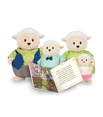 li'l woodzeez sheep family set