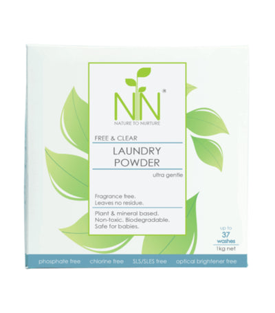 nature to nurture free and clear laundry powder ultra gentle 1kg