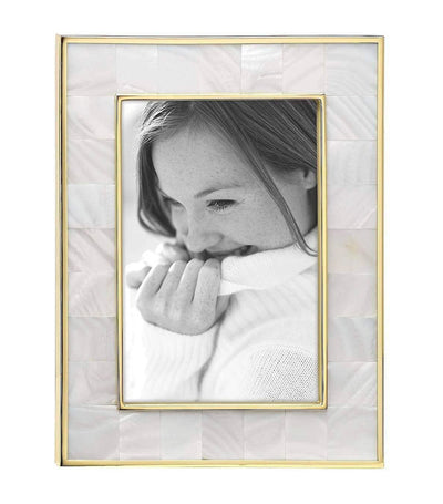 Reed & Barton Mother of Pearl Gold Picture Frame - 4in x 6in