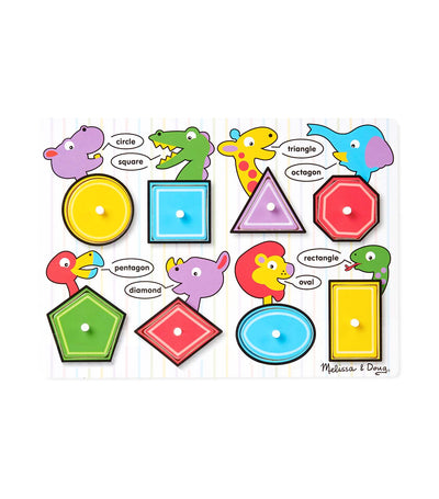 melissa & doug shapes wooden peg puzzle