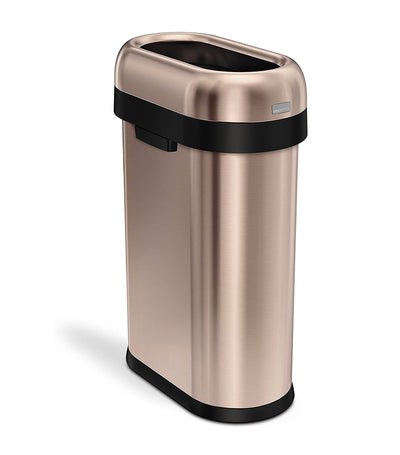 Simple Human 50L Slim Open Trashcan - Rose Gold