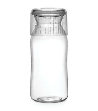 Brabantia Storage Jar with Measuring Cup - Transparent