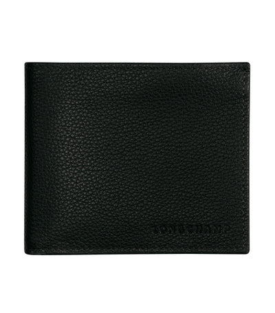 Le Foulonné Men's Bi-Fold Wallet Black