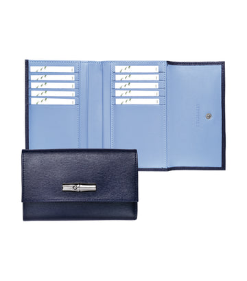 Roseau Compact Wallet Navy