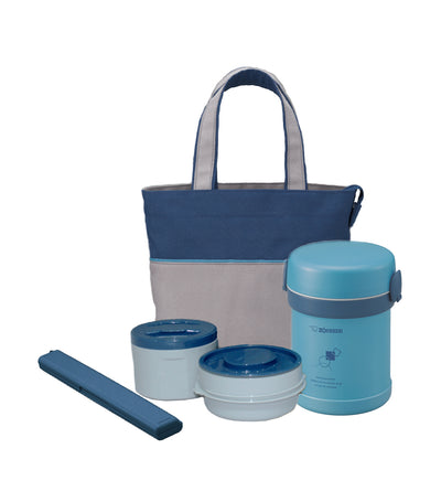 zojirushi ms. bento® stainless lunch jar - blue