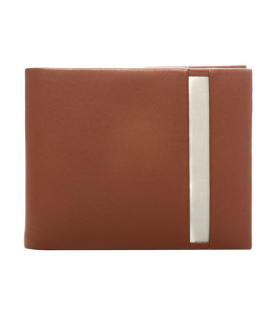 stewart/stand rfid blocking vertical billfold wallet leather tan