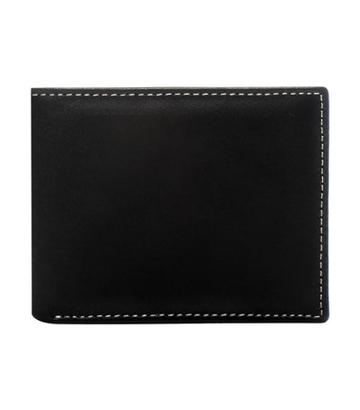 stewart/stand crossing billfold wallet stainless steel and black leather