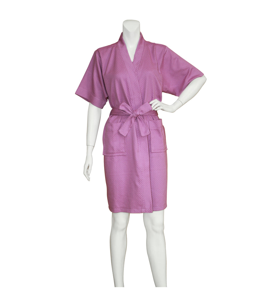 Rustan's Home Honeycomb Women's Bathrobe - Orchid Lavender
