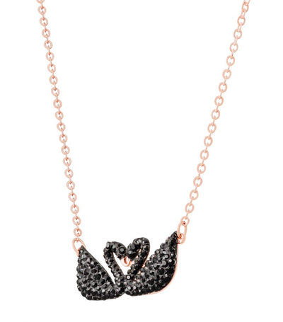 Iconic Swan Necklace Black