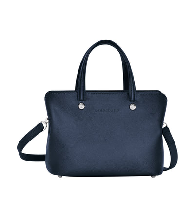 Le Foulonné Top-Handle Bag S Navy