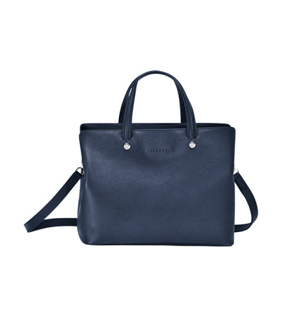 Le Foulonné Top-Handle Bag M Navy