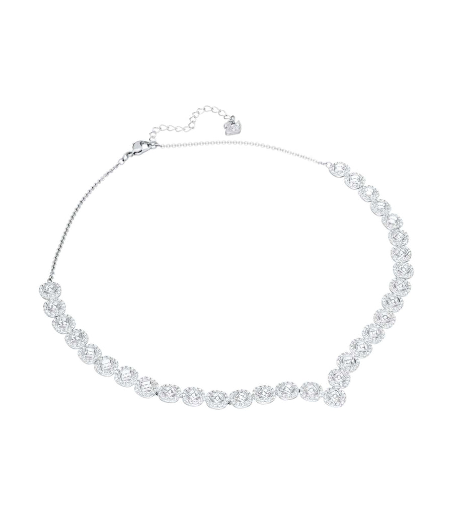 Angelic Square Necklace and Earrings Set White