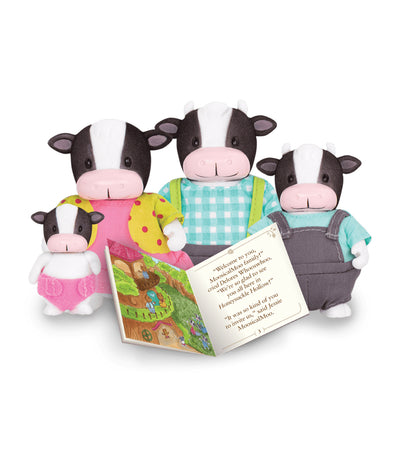 li'l woodzeez cow family set