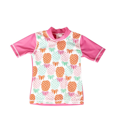 Short Sleeves UV Rash Top - Pineapple