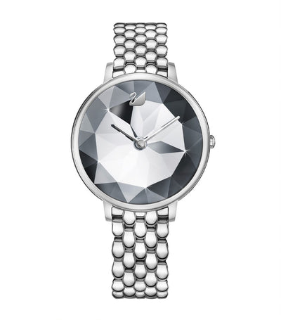Crystal Lake Watch Silver Tone