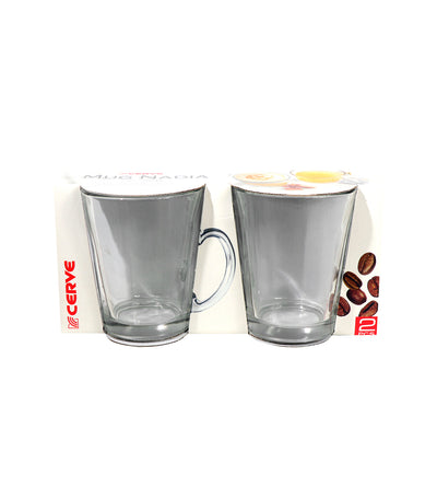 Cerve Nadia Clear Coffee Cup Set