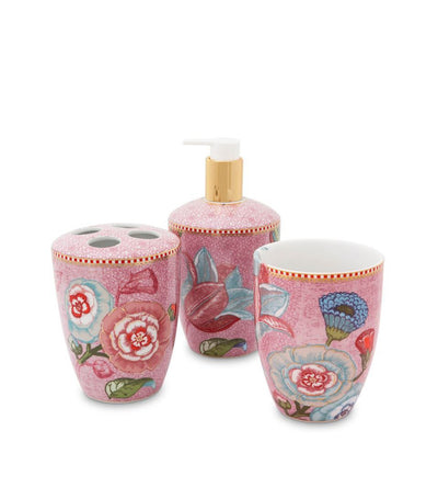 Pip Studio Spring to Life Bath Accessories Set Pink