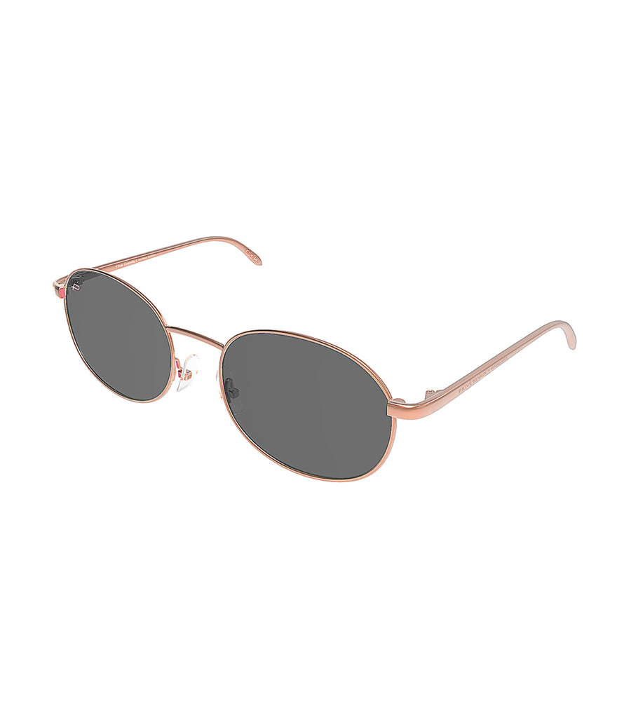 privé revaux the candy rose gold with black lenses