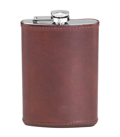 Reed & Barton Hudson Leather Flask