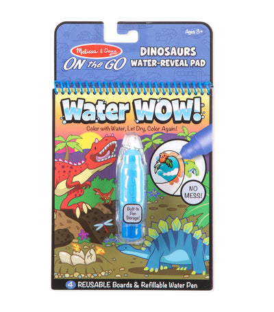 melissa & doug water wow! dinosaurs water-reveal pad - on the go travel activity