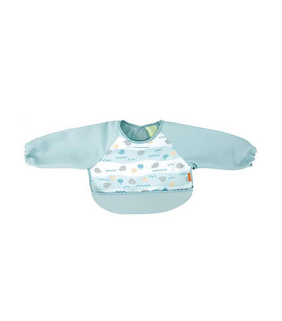 combi blue easy clean long sleeves handy bib