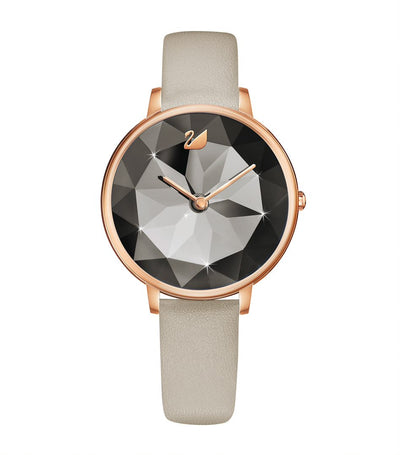 Crystal Lake Leather Watch Gray