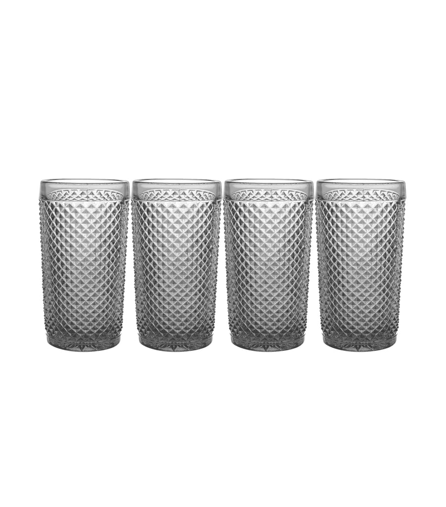 Vista Alegre Bicos Cinza Highball Glass Set