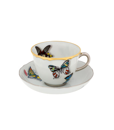 Vista Alegre Lacroix Butterfly Parade Cup and Saucer Set
