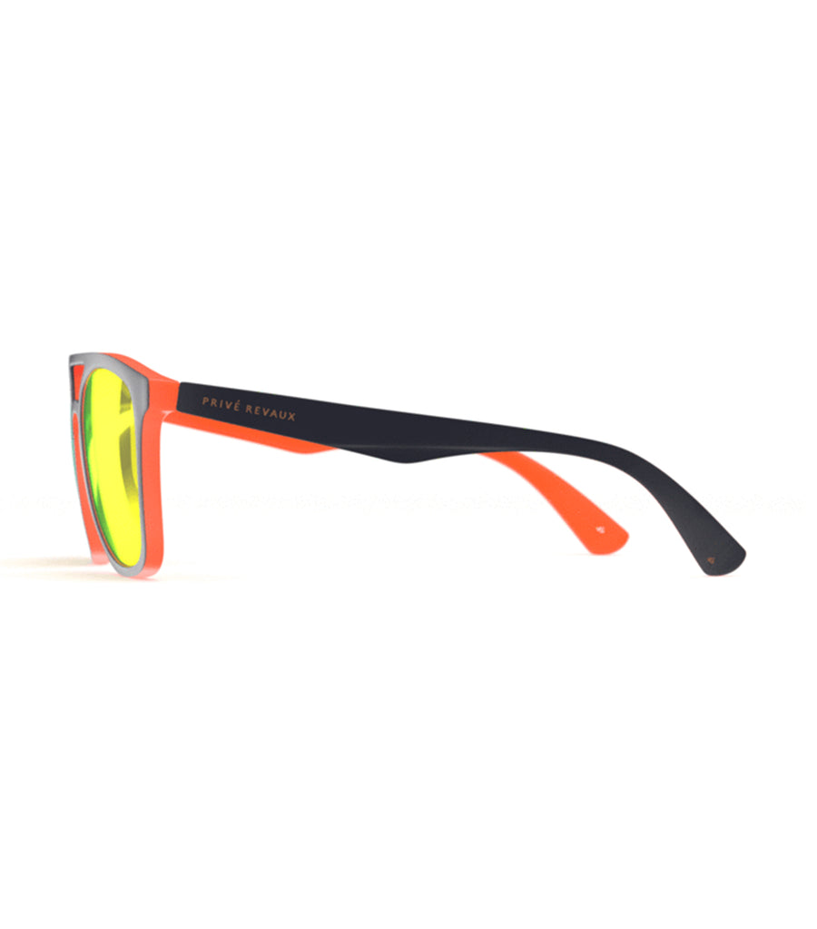 privé revaux the zona midnight navy with orange lenses