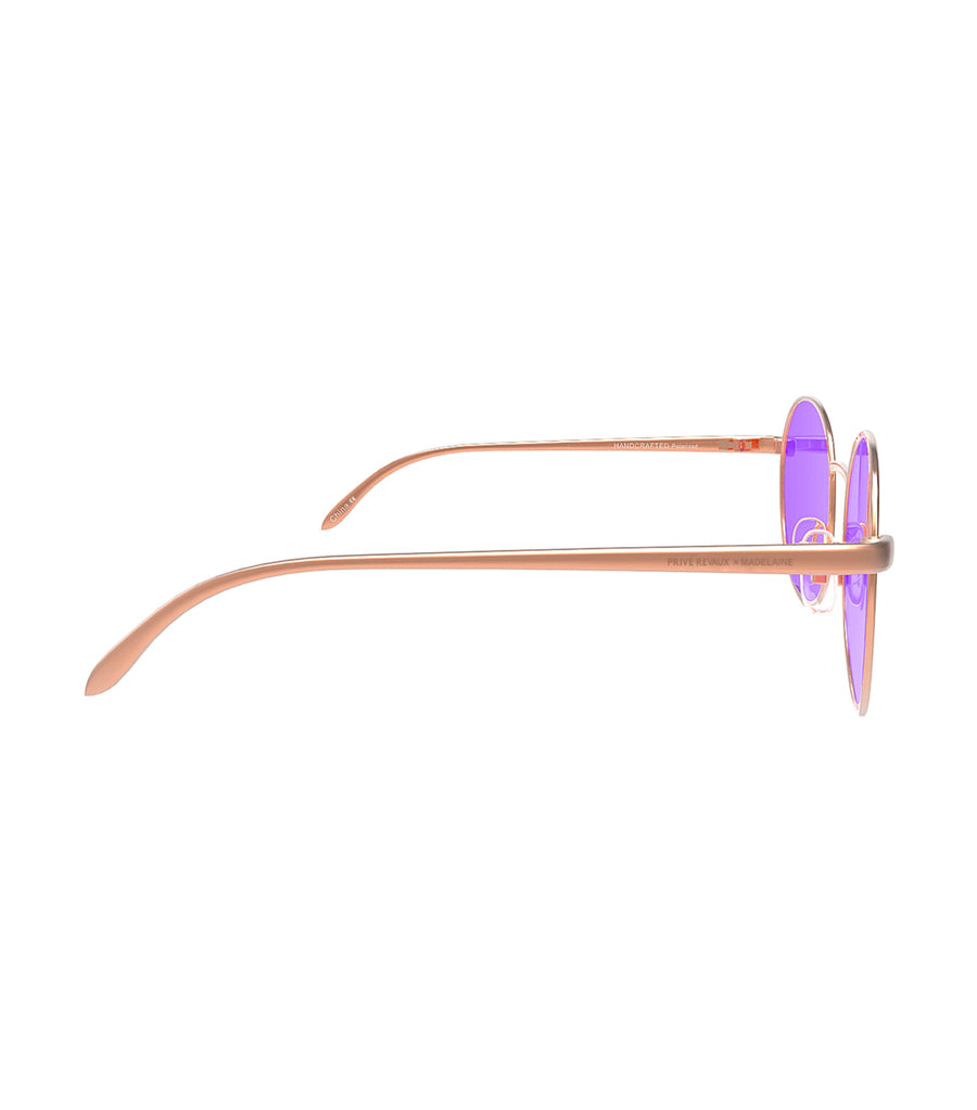 privé revaux the candy rose gold with purple lenses