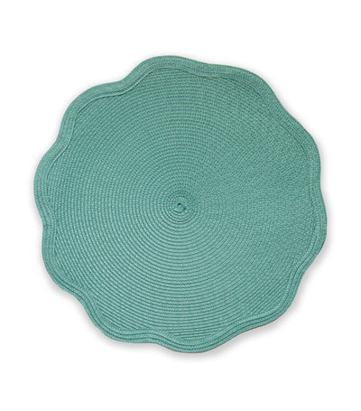 Benson Mills Scalloped Round Placemat Set of 4 - Harbor
