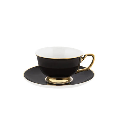 Cristina Re Signature Ebony Teacup and Saucer Set
