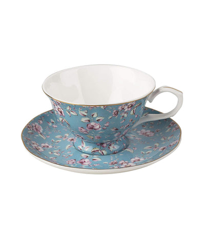 Creative Tops Katie Alice Ditsy Floral Cup and Saucer - Teal