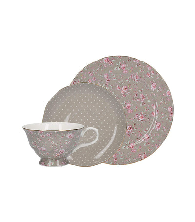 Creative Tops Katie Alice Ditsy Floral Afternoon Tea Set - Gray