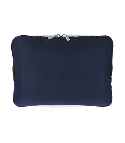 yumbox navy poche insulated sleeve lunch bag