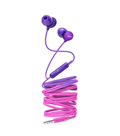 UpBeat In-Ear Headphones with Mic Purple Pink