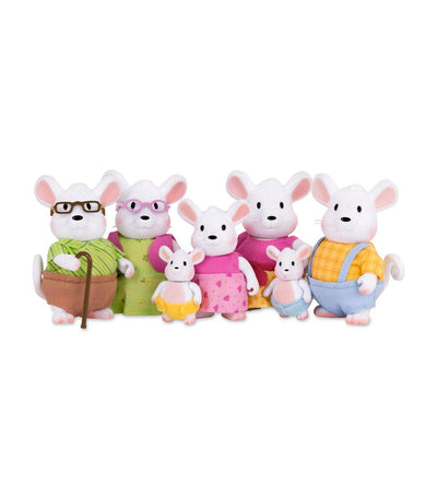 li'l woodzeez mouse family set with grandparents