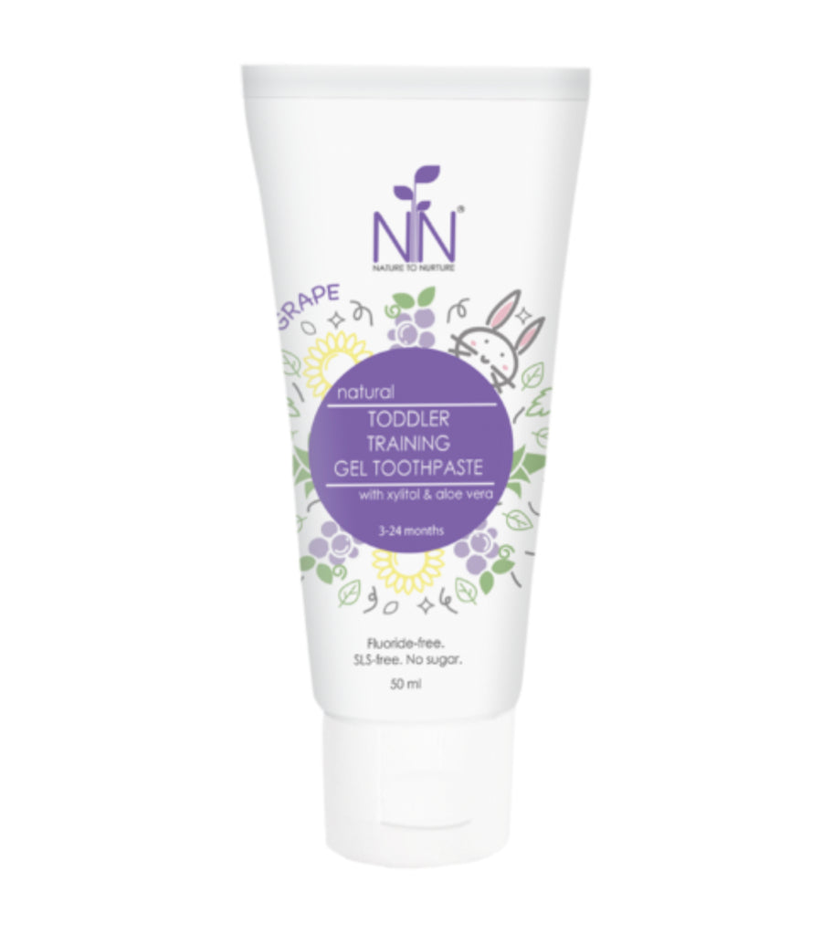 nature to nurture toddler training gel toothpaste, 3 months to 2 years old (grape)